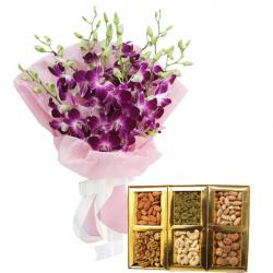 1 Kg Dryfruits with 10 Orchids