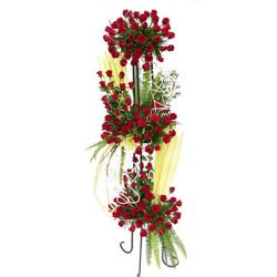 100 Red Roses Standing Arrangement