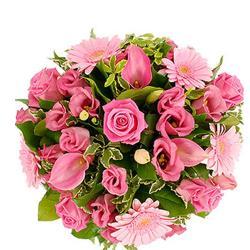 18 Pink Flowers Bouquet