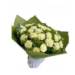 20 Yellow Carnations Bouquet