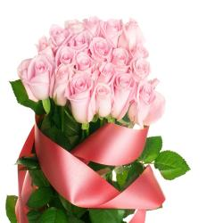 21 Pink Roses Bouquet
