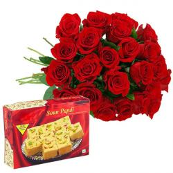 25 Red Roses And Soan Papdi