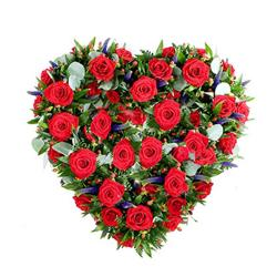 35 Red Roses In Heart Shape