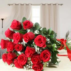 Alluring Red Roses Bouquet