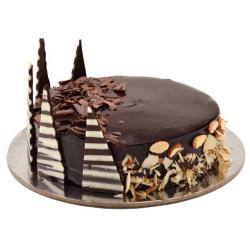 Almond Truffle Chocolate Cake