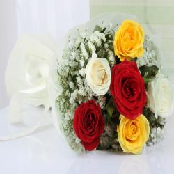 Amazing Six Mix Roses Bouquet