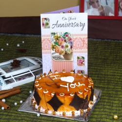 Anniversary Greeting Card with Butterscotch Cake