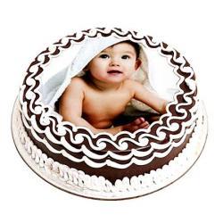 Baby Photo Chocolate Cake