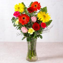 Beautiful Vase of Fresh Flowers