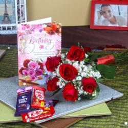 Birthday Gift Token with Chocolates