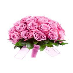 Bouquet of 18 Pink Roses