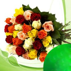 Bouquet of 30 Colored roses