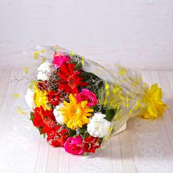 Bouquet of Fifteen Assorted Flowers