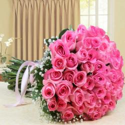 Bouquet of Fifty Pink Roses