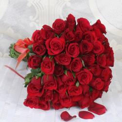 Bouquet of Fifty Red Roses