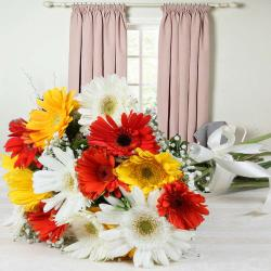 Bouquet of Mixed Colorful Gerberas