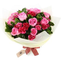 Bouquet of Pink Carnation and Pink Roses