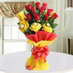 Bouquet of Roses with Ferrero Rocher
