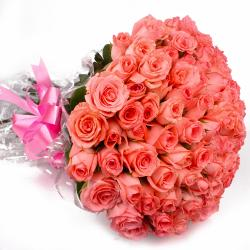 Bouquet of Sixty Pink Roses