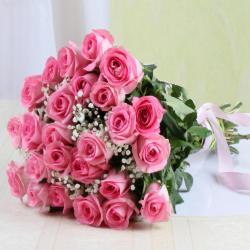 Bouquet of Twenty Five Pink Roses