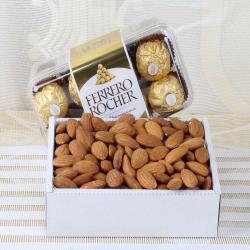 Box of Almond with Rocher Chocolates Same Day Delivery