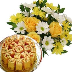 Bright Flowers with Soan Papdi