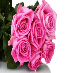 Bunch of 6 Pink Roses