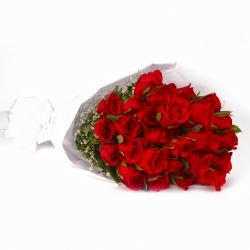 Bunch of Exclusive Twenty Five Red Roses