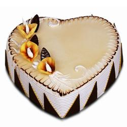 Butter Scotch Heart Shape Cake