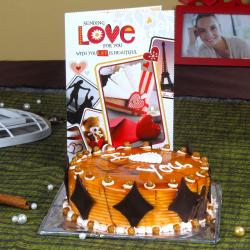 Butterscotch Cake with Love Greeting Card