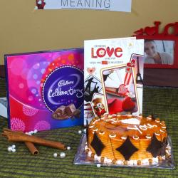 Cadbury Celebration Chocolate Pack with Butterscotch Cake and Love Greeting Card