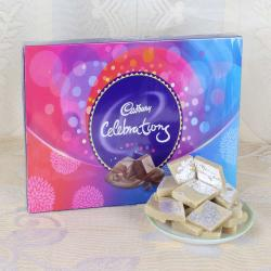 Celebration Chocolate Pack and Kaju Sweet Express Delivery