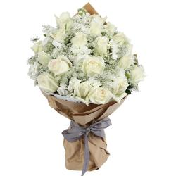 Charming Bouquet of White Roses