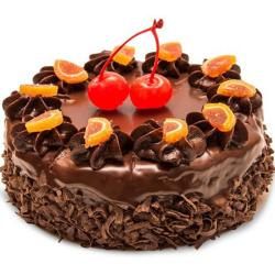 Chocolate Cake with Orange Touch