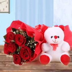 Combo of Flower and Teddy