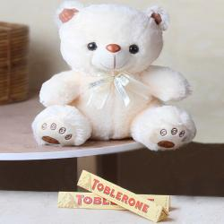 Combo of Teddy and Toblerone Chocolate
