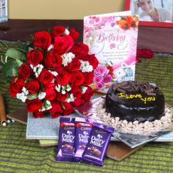 Dairy Milk Chocolate Combo with Eggless Cake and Birthday Card