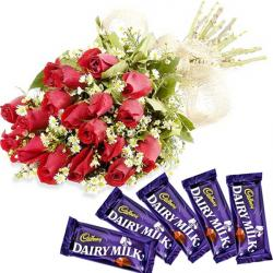 Dairy Milk Delight with Red Roses