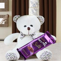 Dairy Milk Silk with Cute Teddy Bear