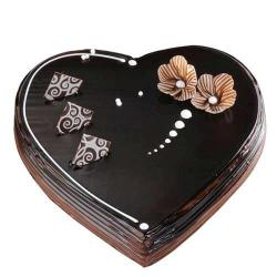 Dark Chocolate Heart Shape Cake from Five Star Bakery