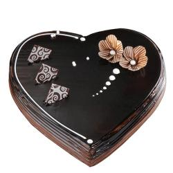 Dark Chocolate Heart Shape Cake