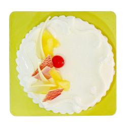 Delicious One Kg Pineapple Flavor Fresh Cream Cake