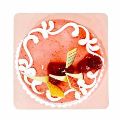 Delicious One Kg Strawberry Flavor Fresh Cream Cake