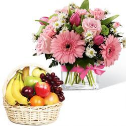 Deluxe Fruit andFlowers Vase