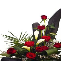 Designer Red Roses Arrangement
