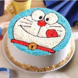 Doraemon Vanilla Cake