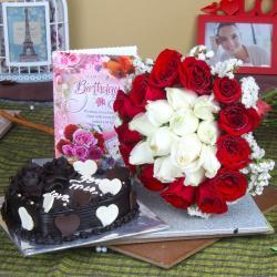 Eggless Birthday Cake Delighted Hamper