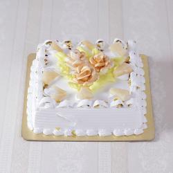 Eggless Butter Cream Sugar Free Pineapple Cake