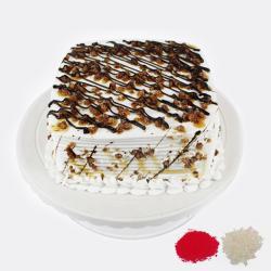 Eggless Butterscotch Cake For Bhaidooj