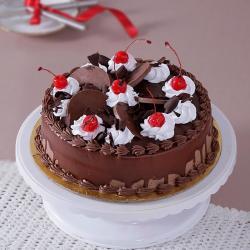 Eggless Chocolate Cherry Cake